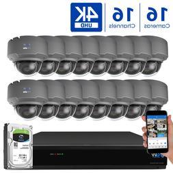GW 16 Channel 4K DVR  8MP CCTV Varifocal Zoom 4K Dome Securi
