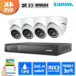 ANNKE H.265+ 4K 8MP 8CH NVR PoE 1080P Outdoor Security Camer