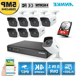 ANNKE H.265+ 5in1 4K 8MP 8CH DVR HD 5MP Security Camera Syst