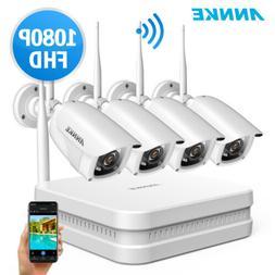 ANNKE H.265+ Full 1080P Wireless 8CH NVR 2MP Security Camera
