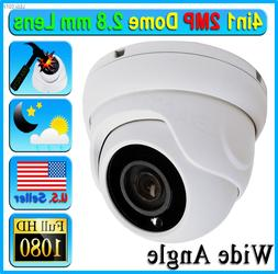 HD 2MP 1080P 4in1 Security Camera Wide 2.8mm Lens Dome CCTV