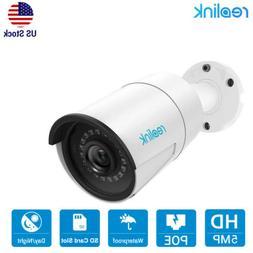5MP PoE IP Security Camera Audio Mic Indoor Outdoor SD Card