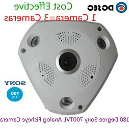 HD Sony 700tvl CCD 180 degree Wide Angle Viewer Analog CCTV