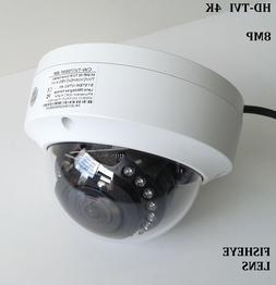 HD TVI 4K 8MP Fisheye Outdoor Indoor Dome Security Camera 36