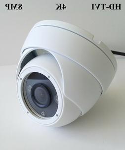 HD TVI 4K 8MP HD CMOS Outdoor IR Dome Security Camera 3.6mm