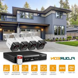 FLOUREON HDMI 1080P 8CH / 4CH POE DVR IR CUT CCTV Security C