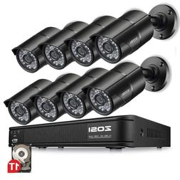 ZOSI HDMI 8CH 1080P CCTV Security Outdoor Camera DVR Night V