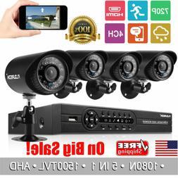 4CH 1080P CCTV DVR System HDMI Home Outdoor 1500TVL Camera S