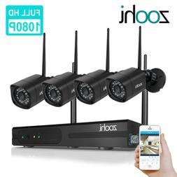 960P HD 4Pcs Wireless Outdoor CCTV Security Camera System 8C