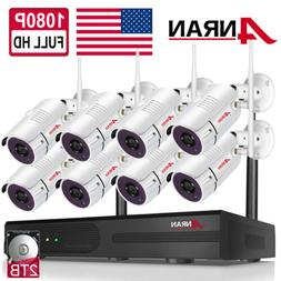 ANRAN Home CCTV Wireless Security 1080P Camera System WiFi H