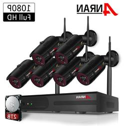 ANRAN Outdoor Wireless Security Camera System 1080P WIFI 8CH