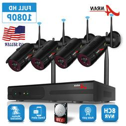 ANRAN Home Security Camera System Wireless 8CH Outdoor 1TB H