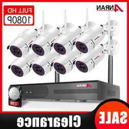 Home Surveillance Security Camera System Wireless Outdoor 8C