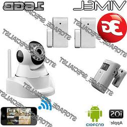 House Security Camera 3G GSM Wireless Alarm System PIR Remot