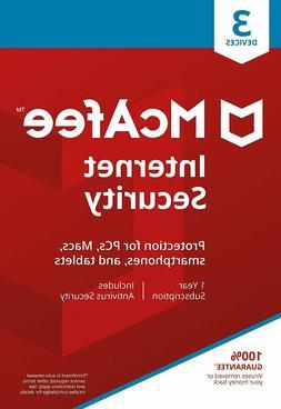 McAfee Internet Security 2020 Anti Virus Software 1 Year Lic