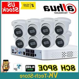 Dahua IP Smart Security Camera Systems 4K 8CH 8POE NVR4108-8