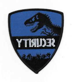 Jurassic World Movie Park Security Guard Logo Embroidered Pa