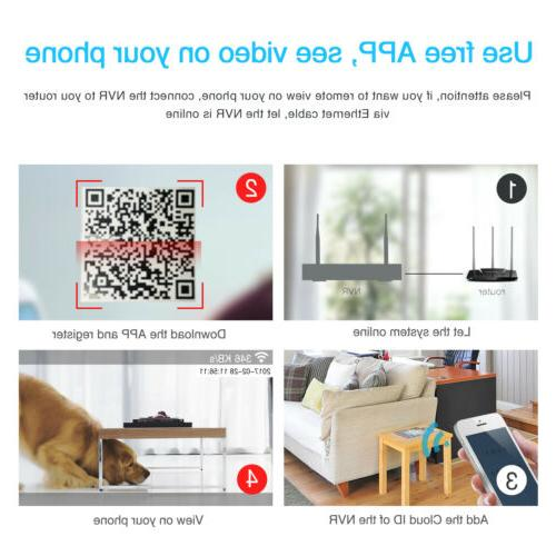 Zoohi Outdoor Security System Wireless CCTV 1080P 1/2TB 4/8CH