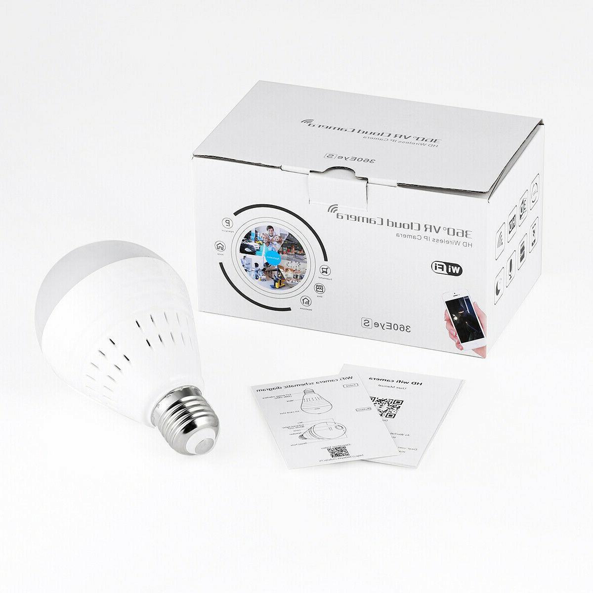 1080P Hidden IP Camera 360° Fish Bulb