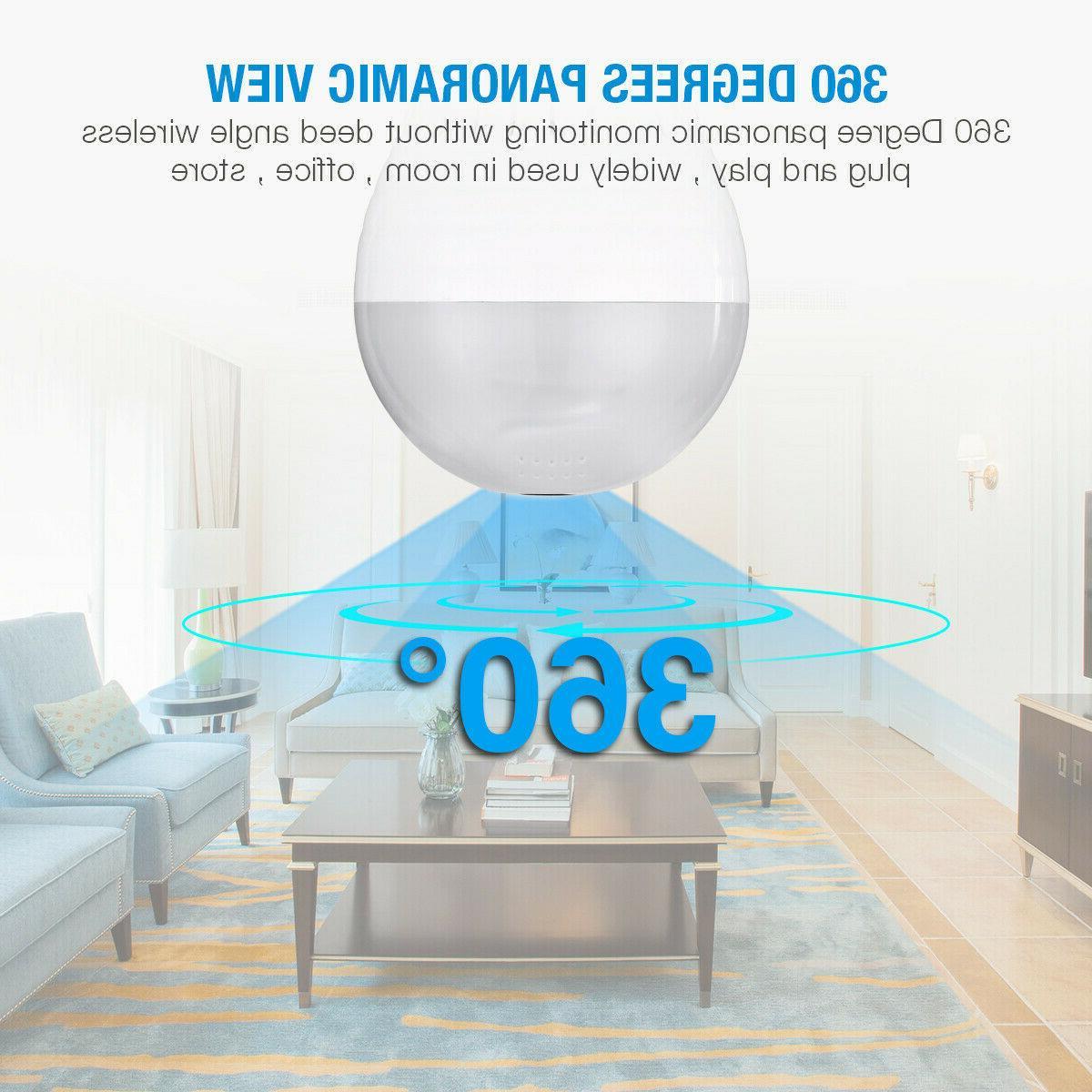 1080P SPY IP Fish Eye Wireless Bulb