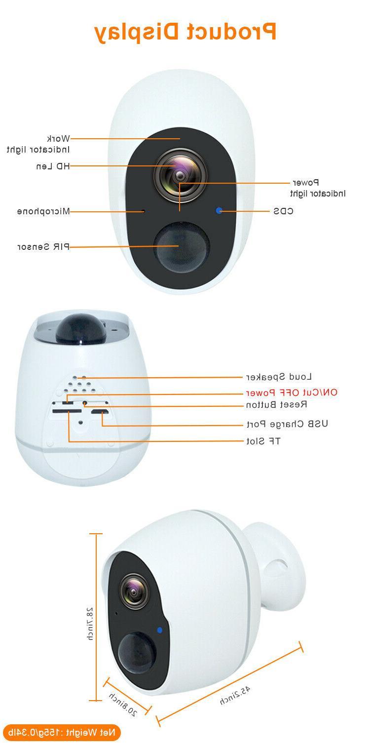 1080P Indoor Outdoor Battery Powered