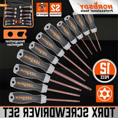 12 pc torx screwdriver set magnetic t6