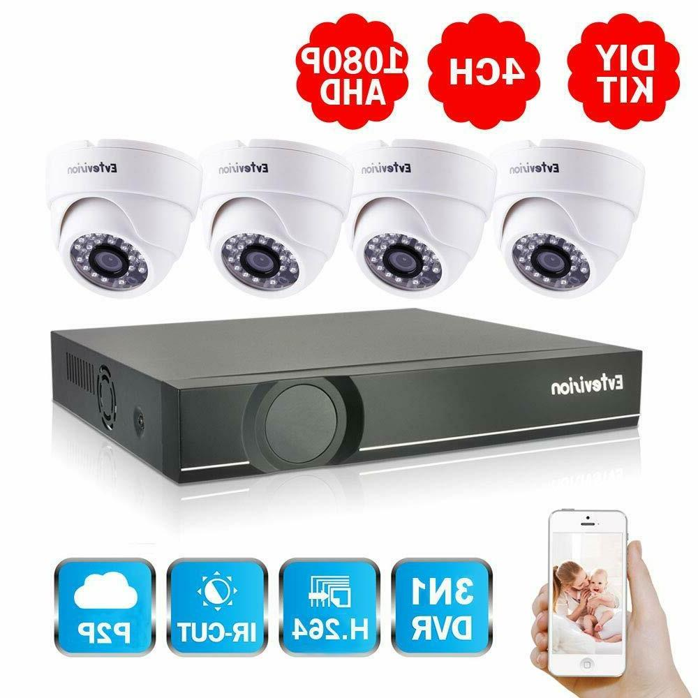 4ch full hd 1080p home video security