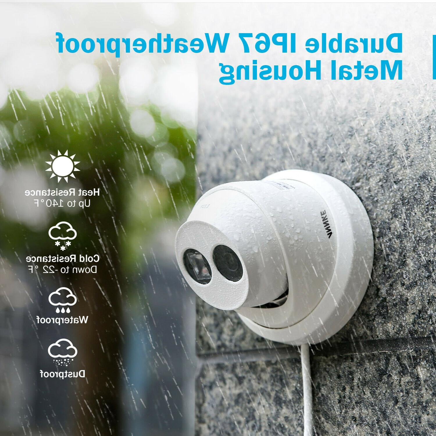 ANNKE 4K POE Outdoor Security IP Camera Motion Vision US
