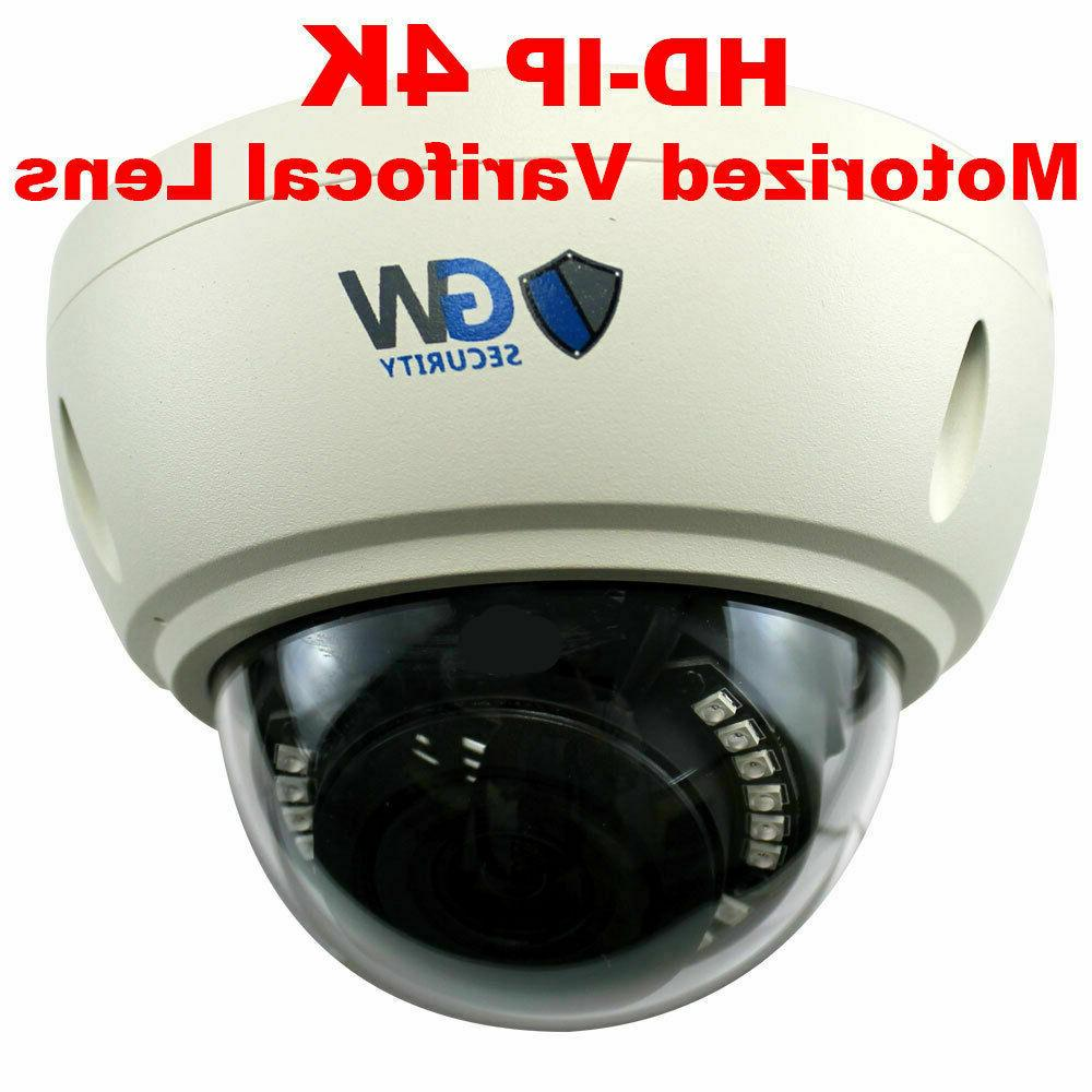 8MP Ultra 4K Motorized Zoom Dome PoE Security