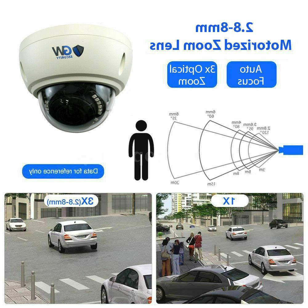 8MP 4K Motorized Zoom Dome Security