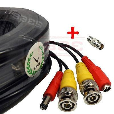 High Quality Video Power BNC RCA Cable fit Night Owl CCTV Se