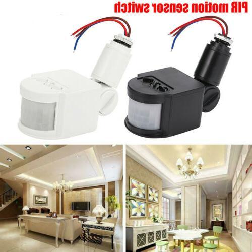 LED Security Infrared PIR Motion Sensor Wall Light Switch 110V