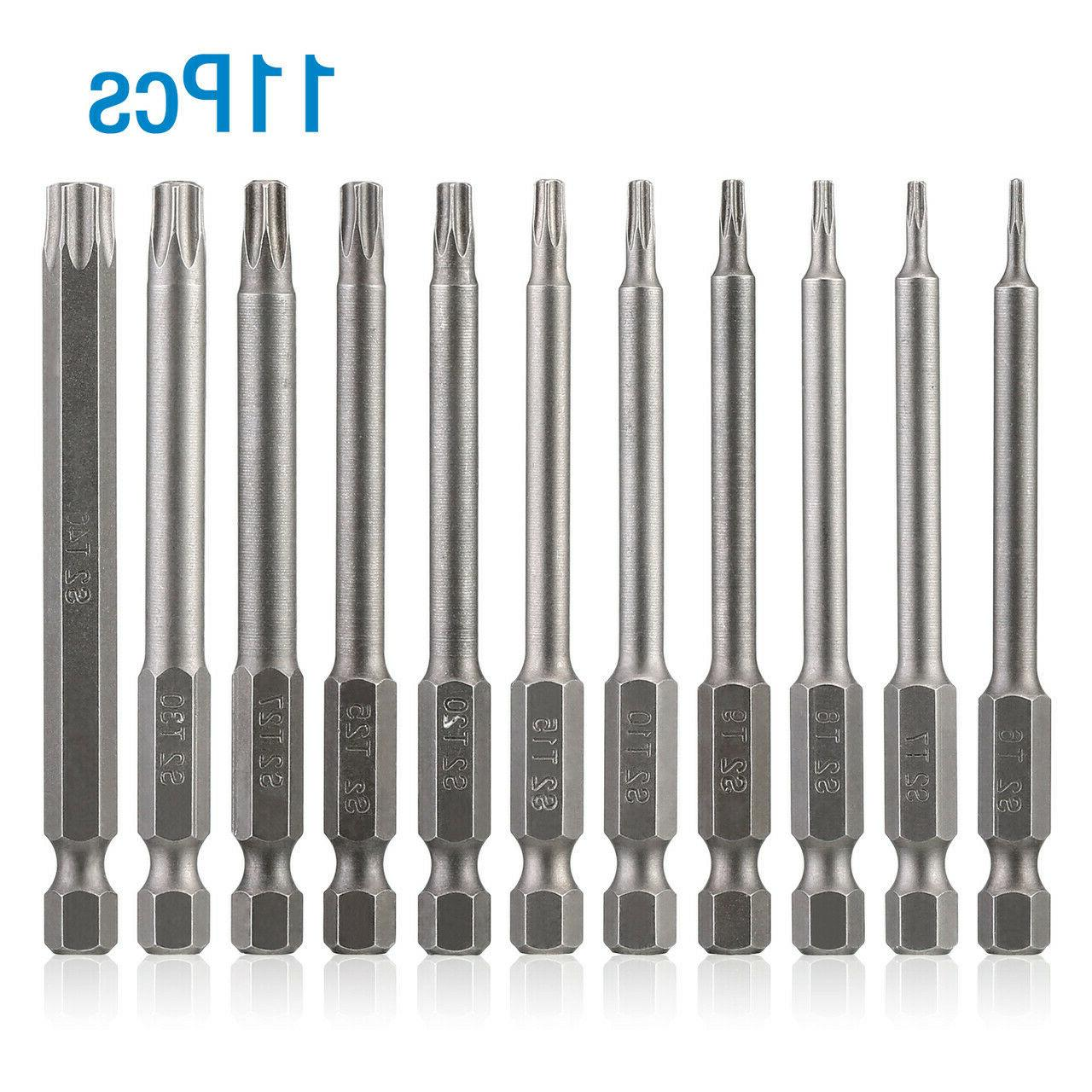 11pc Torx Bit Set Quick driver Proof