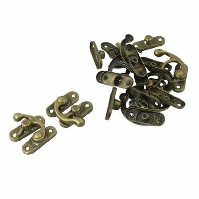 uxcell 10 Pair Home Door Security Swing Arm Lock Metal Buckl