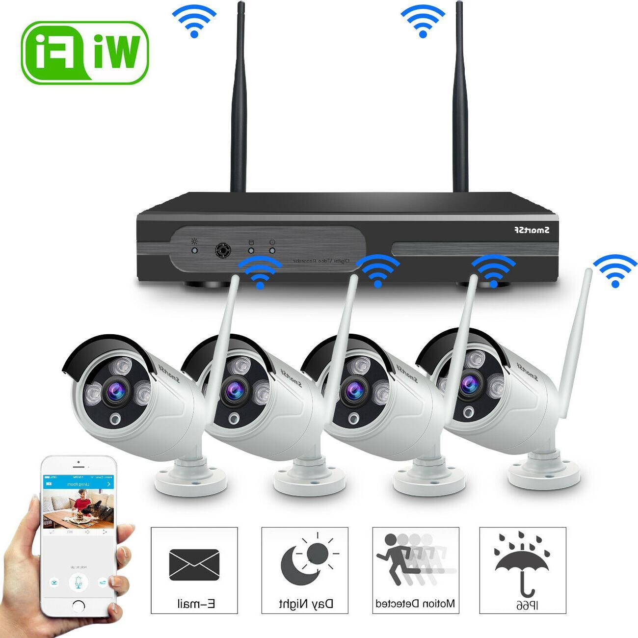 wireless 4ch 1080p nvr outdoor indoor wifi