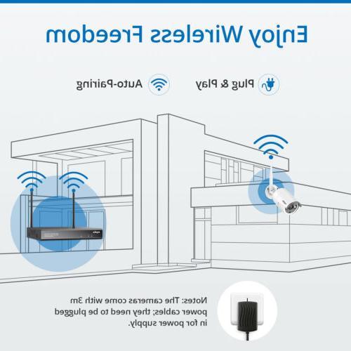 SANNCE NVR IP Camera System IR Night Vision