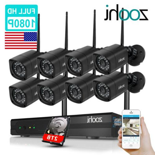zoohi outdoor security camera system wireless wifi