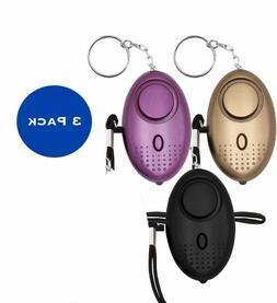 LED Mini Safety Security Alarm Keychain Personal Panic Emerg
