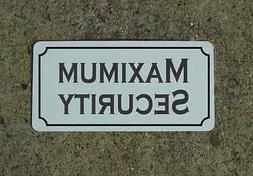 MAXIMUM SECURITY Metal Sign 4 Costume Cosplay Clubware S&M P