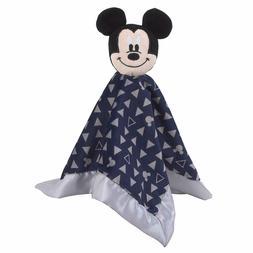 Disney Mickey Mouse Lovey Security Blanket, Navy/Grey