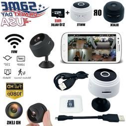 Mini Wireless IP Camera Wifi Home Security HD 1080P DVR Nigh