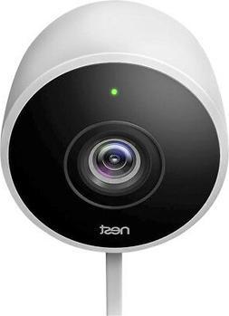 Google - Nest Cam Outdoor 1080p Security Camera - White