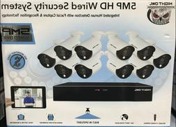 NEW! Night Owl 16 Channel 5MP HD Wired Security System 2TB D