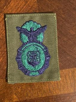 Obsolete US AIR FORCE USAF SECURITY POLICE BADGE OD Subdued