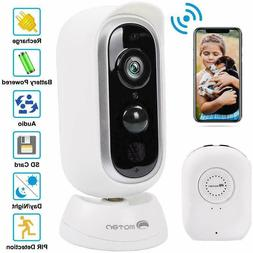 Outdoor 1080P HD Security Camera Wireless WIFI IP Rechargeab