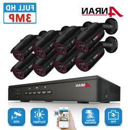 ANRAN Outdoor Security Camera System Home 3.0MP HDMI 8CH PoE