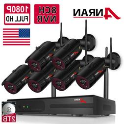 ANRAN Outdoor Security WiFi Camera System CCTV 1080P HD 8CH