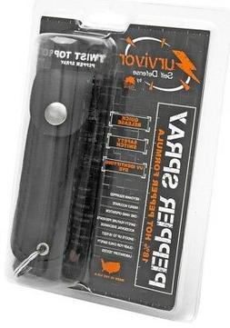 Survivor Pepper Spray Security Self Defense Safety Keychain