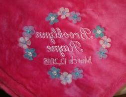Personalized Monogrammed Baby Mini Security Blanket Hot Pink