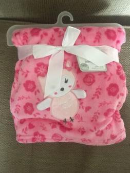 Le Bebe Pink Owl Flowers Baby Favorite Blanket Girl Soft Plu